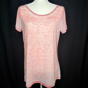⭐ Coral Mineral Wash Burnout T Shirt
